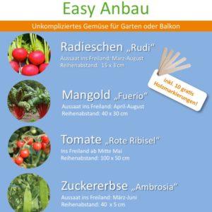 Bio Saatgut Paket Easy Anbau