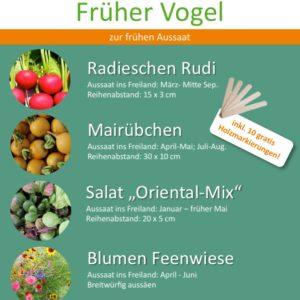 Bio Saatgut Paket Früher Vogel
