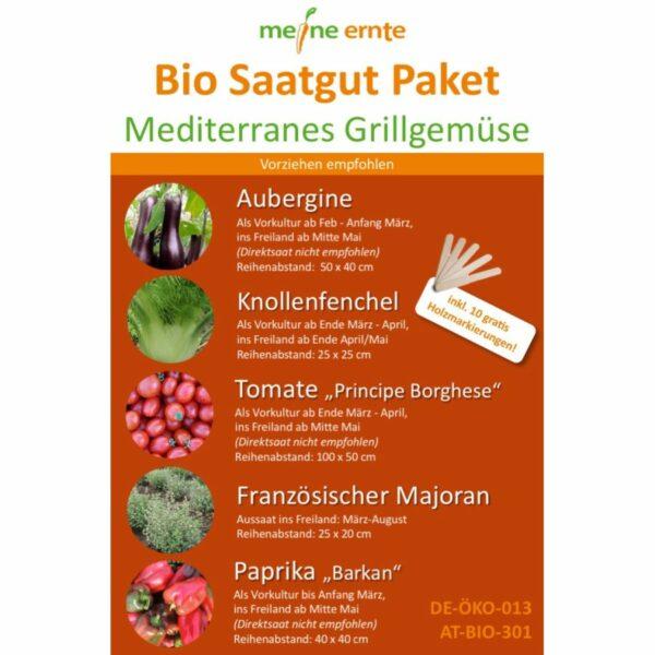 Saatgutpaket Mediterranes Grillgemüse