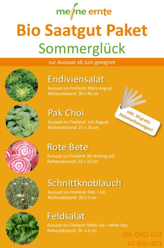 Bio Saatgut Paket Sommerglück