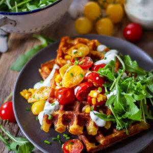 Simply Vegan: Herzhafte Waffeln