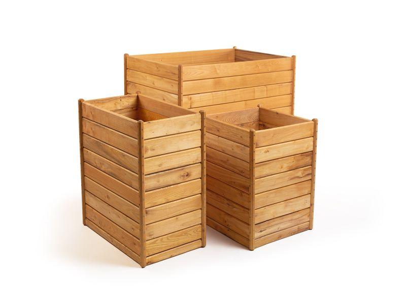 Schmales Hochbeet aus Holz